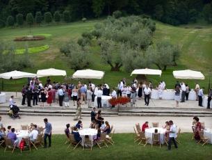 Panoramica del buffet al Rovere