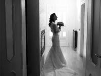 Ritratto sposa in bianco e nero
