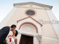 Bacio sposi grande angolo a Venezia