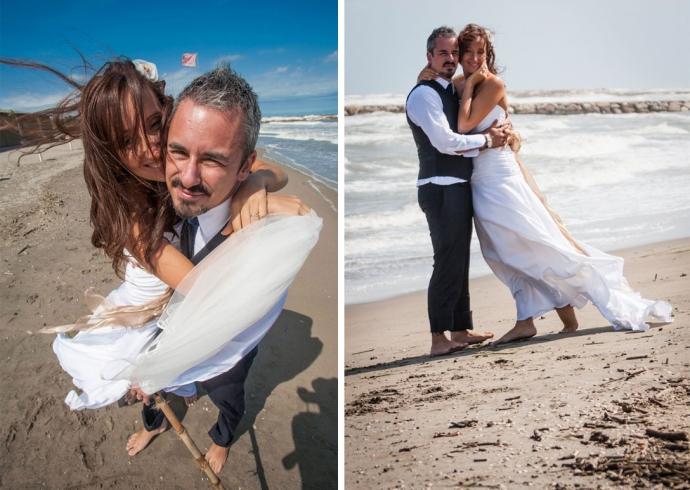 La spiaggia di Chioggia location per matrimoni