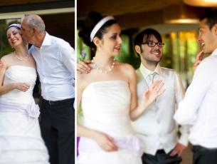 Fotografia degli sposi durante il ricevimento Sweet Hotel Vicenza