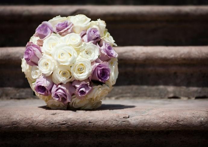 Il bouquet da sposa con le rose