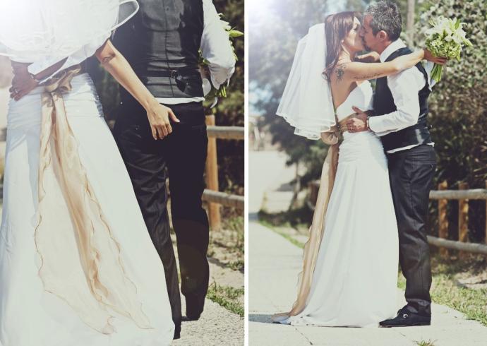 Le coccole degli sposi