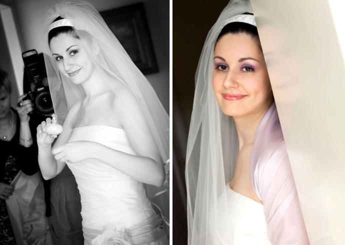 Sposa ritratta da due fotografi professionisti