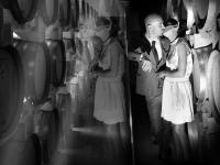 Bacio romantico degli sposi a Padova