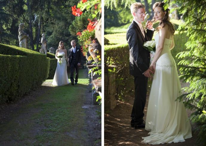 Passeggita degli sposi in Villa Giulia