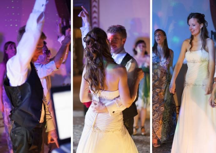 Il primo ballo degli sposi da marito e moglie