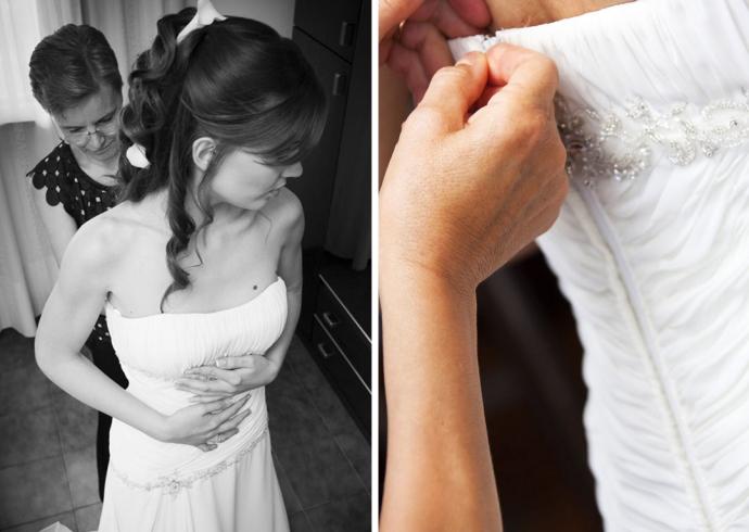 Preparazione a casa della futura sposa
