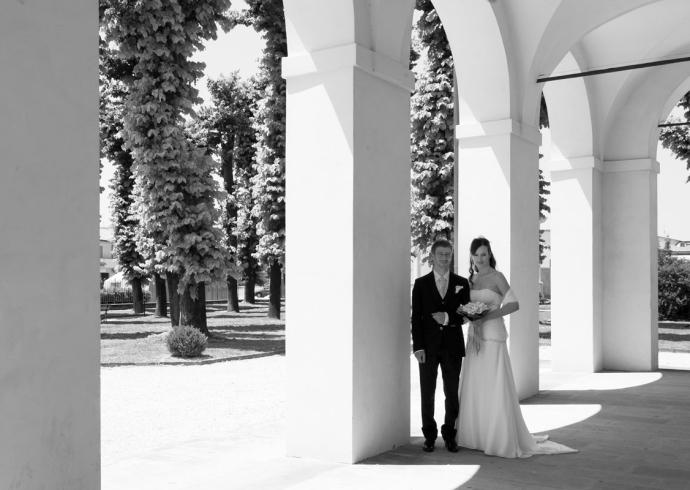 Fotografia di matrimonio in bianco e nero a Padova