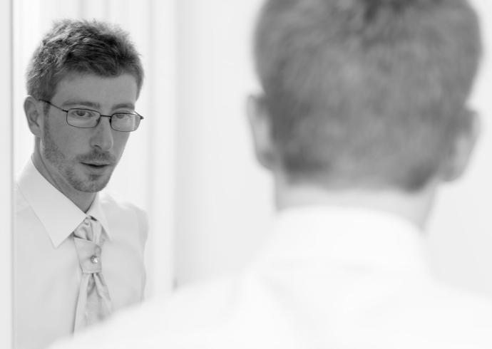 Lo sposo si prepara a Masserà Padova