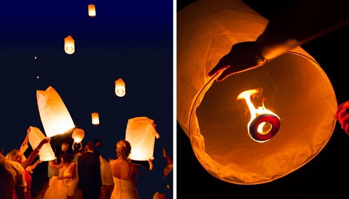 Lanterne cinese al matrimonio