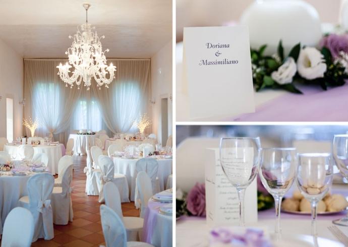 Sala raffinata per ricevimenti alla Villa Moschini Rossi