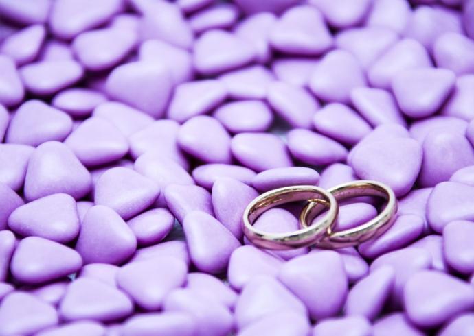 Confetti nuziale colore lilla