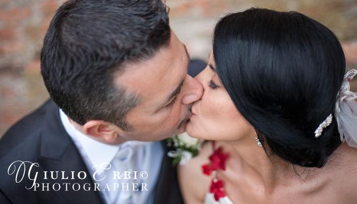 Bacio degli sposi nel Castello