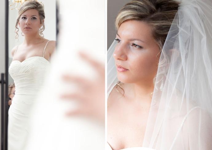 La sposa bellissima con il velo
