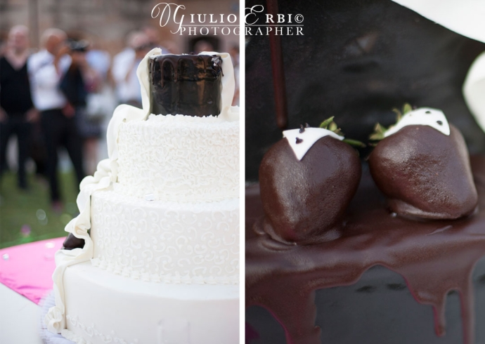 la torta nuziale al cioccolato