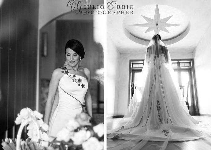 Fotografia in controluce della sposa