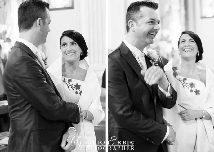 Il volto degli sposi si riempie di emozioni e grande risate durante il matrimonio