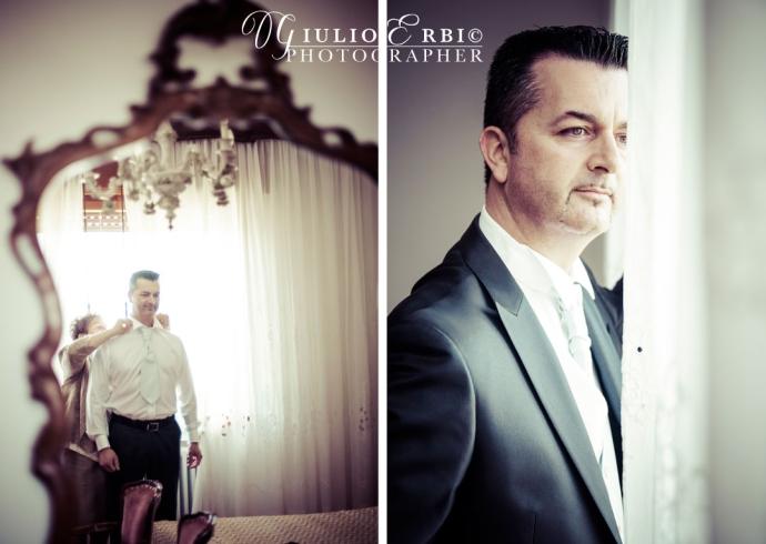 Lo sposo a casa prime delle nozze