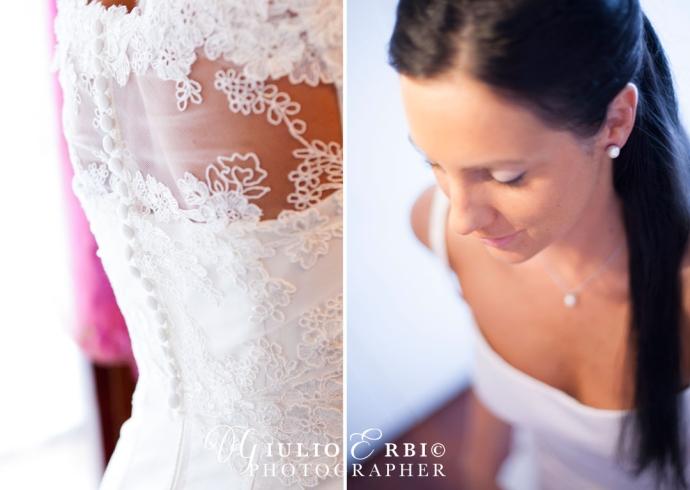Preparazione e fotografie a casa della sposa il giorno delle nozze