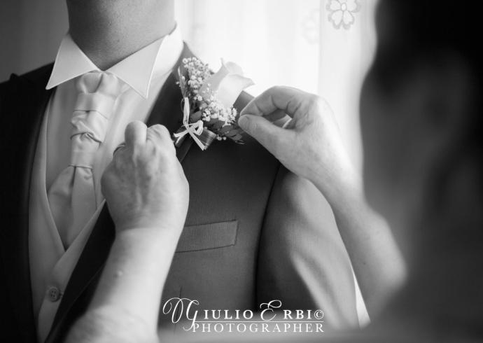La boutonnière dello sposo