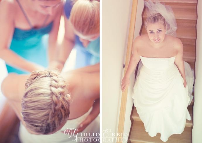 Le fotografie a casa della sposa