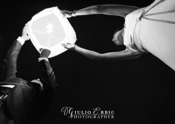 Lanterne volanti per il ricevimento di nozze