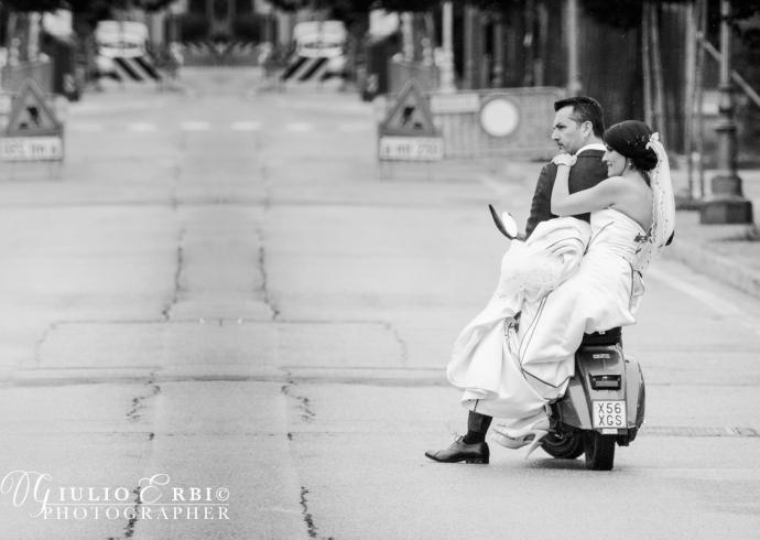 Vespa al matrimonio