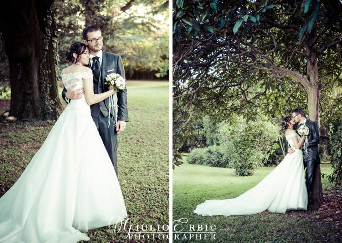 Sposi nei giardini a Villa Giusti Bassano