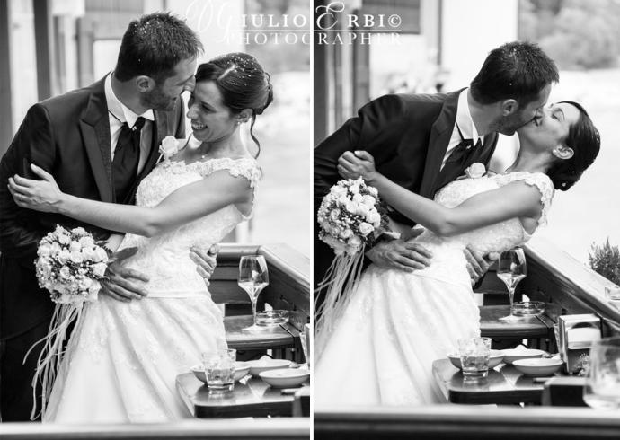 Bacio degli sposi con caschè