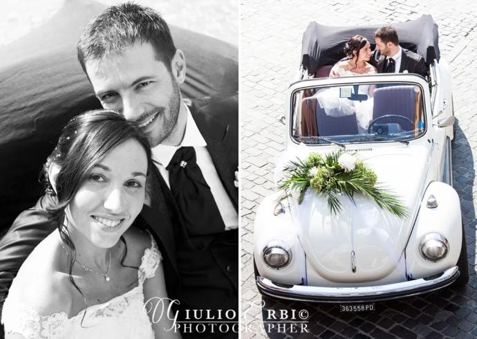 Maggiolino cabrio per gli sposi
