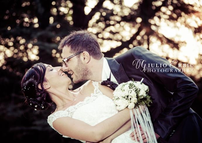 Fotografia di matrimonio al tramonto