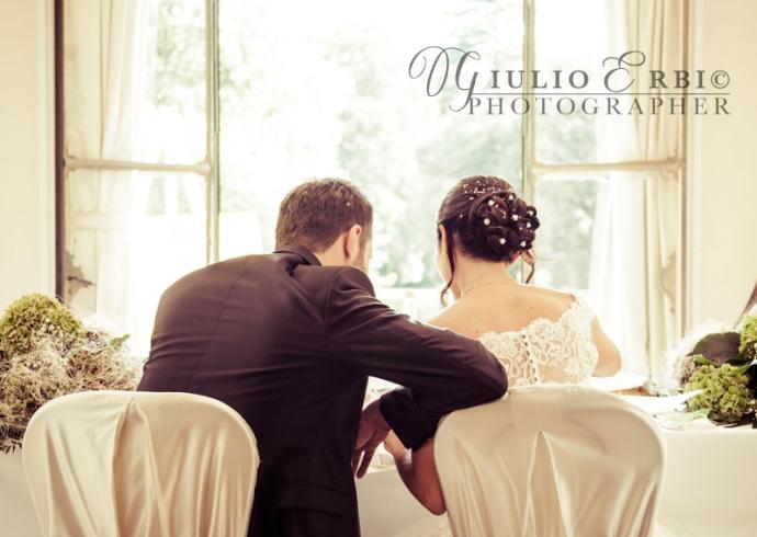 Sposi al tavolo d'onore