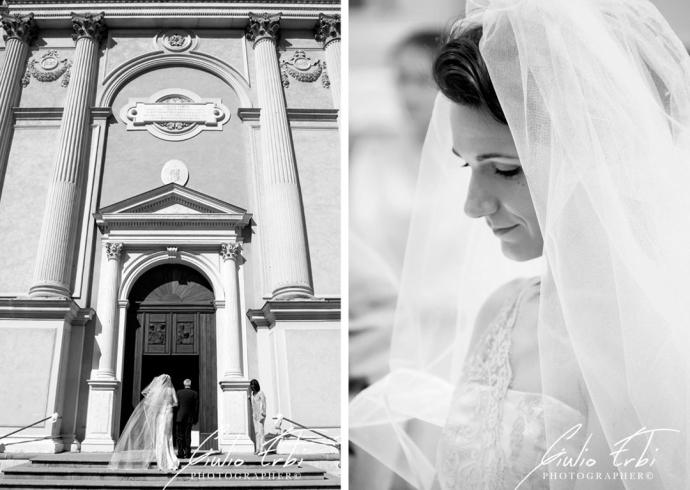 L'ingresso in chiesa della sposa