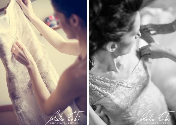 La vestizione a casa della sposa