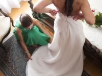Servizio fotografico presso la casa della sposa