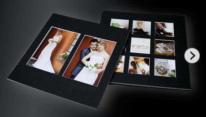 Passepartout nero per fotografia di matrimonio