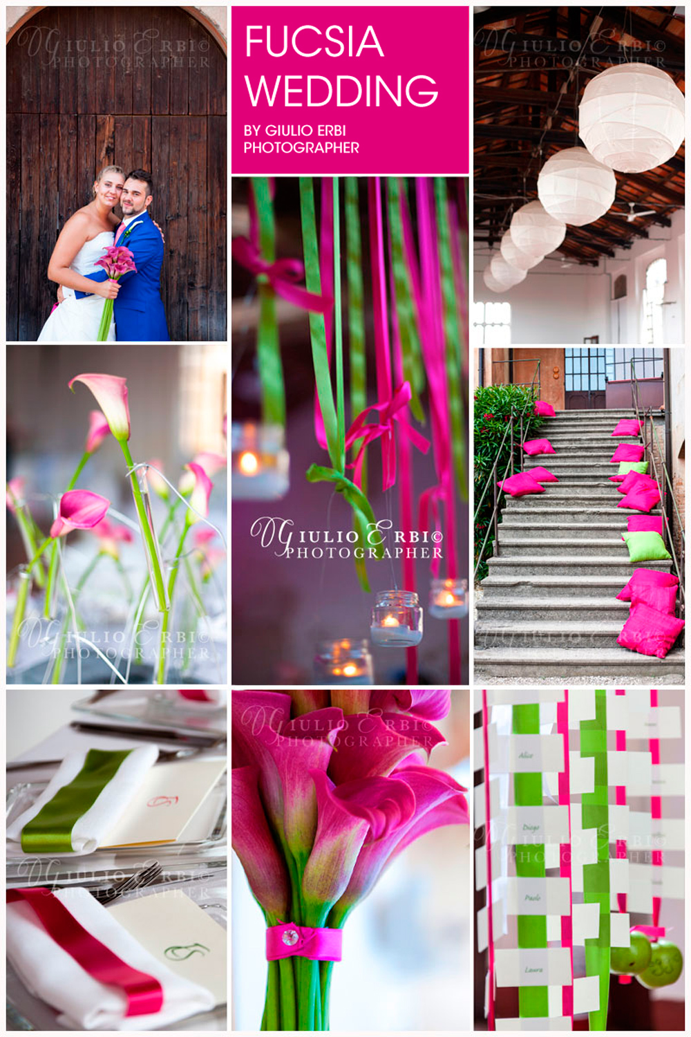 Fuchsia Wedding in Italy