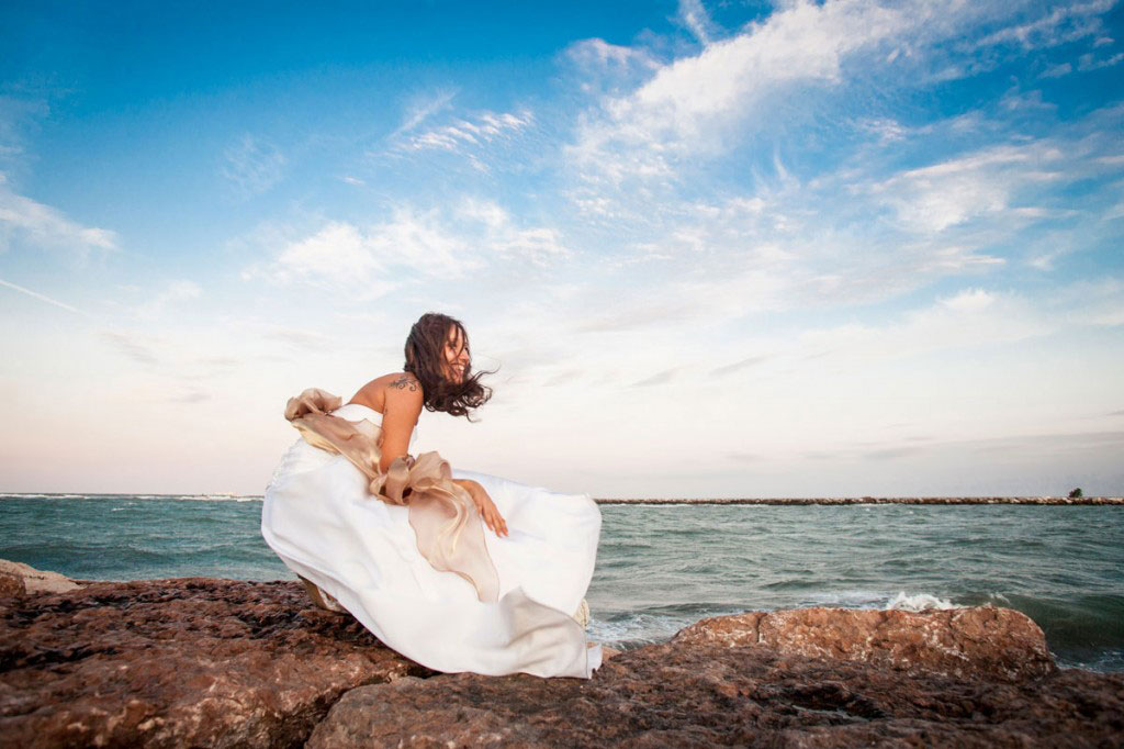Wedding photography at sea